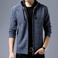 Hooded Coat - Blue / M - Men Jacket