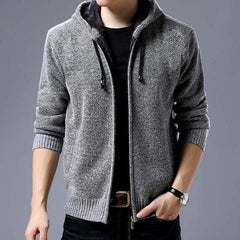 Hooded Coat - Light Gray / M - Men Jacket