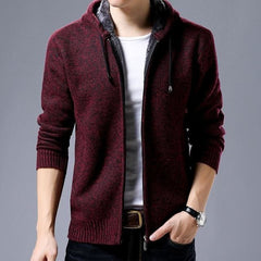 Hooded Coat - Red / M - Men Jacket