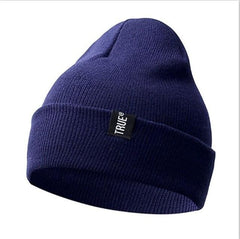 Knitted Hat - Dark Blue - Hat