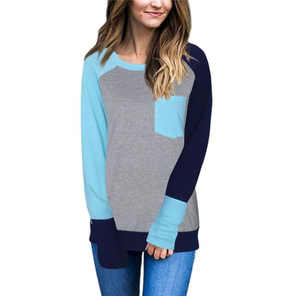 Leyle Blouse - Light Blue / S - Hoodie