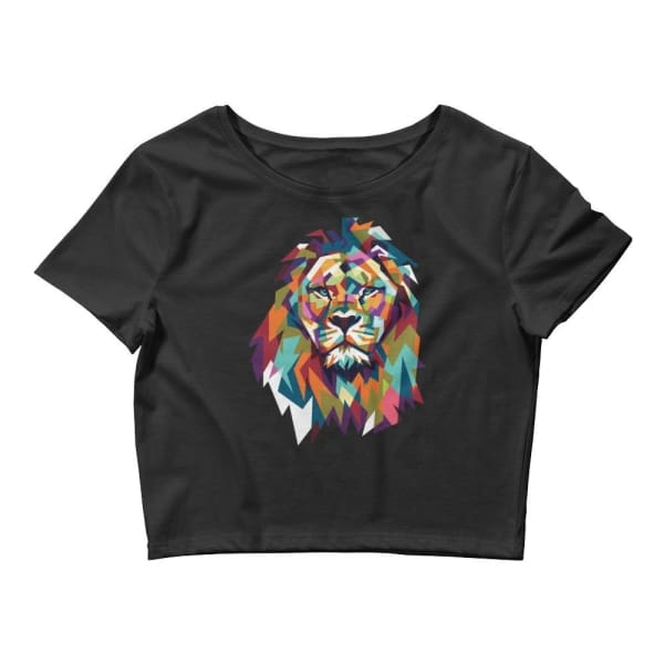 Lion Crop Tee - Black / Xs/sm