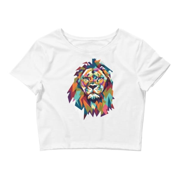 Lion Crop Tee - White / Xs/sm