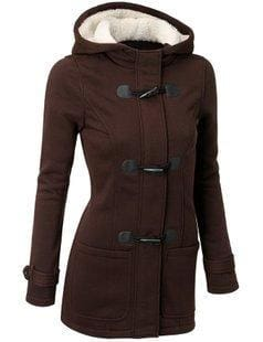 Long Hooded Coat - Brown / S - Jacket
