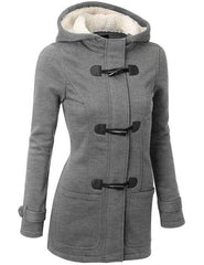 Long Hooded Coat - Gray / S - Jacket
