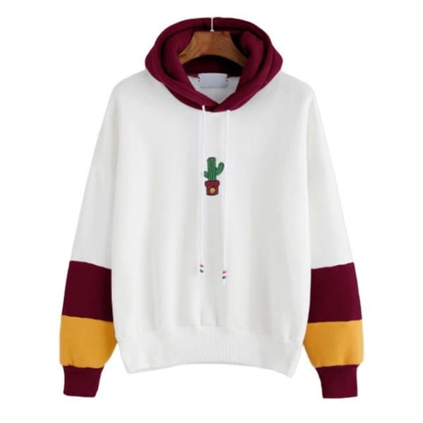 Long Sleeve Hoodies Cactus - Wine Red / S - Hoodies