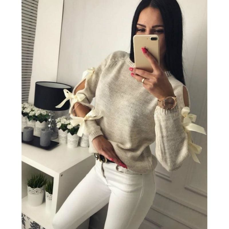 Long Sleeve Sweater - Sweater