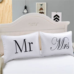 Mr And Mrs Pillow Cases - Couple Pillow Case / 50Cmx75Cm / China
