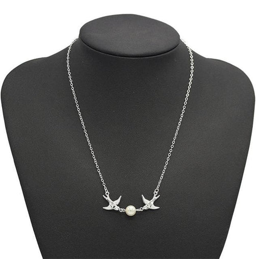 Pearl Charms Choker - Sliver - Necklace