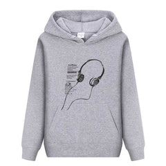 Rock On Roll - Light Grey / M - Hoodies