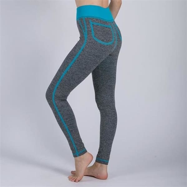 Sexy Leggings - Lake Blue / S - Bottomwomen