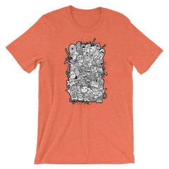 Short-Sleeve Unisex T-Shirt - Heather Orange / S
