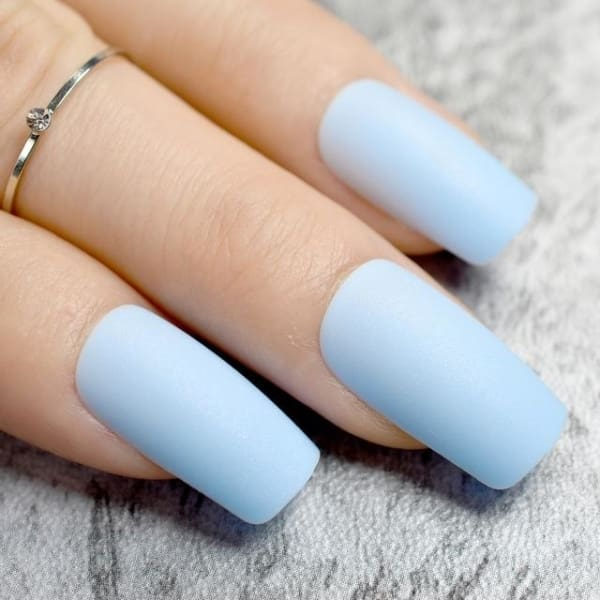 Sky Blue Press On Stiletto Nails Long Press On Nails - Z766 - Makeup