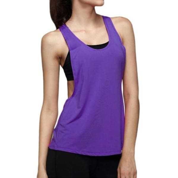 Sleeveless - Purple / L - Wtops
