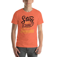 Stars T-Shirt - Heather Orange / S