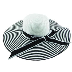 Straw Beach Hat - Stripes