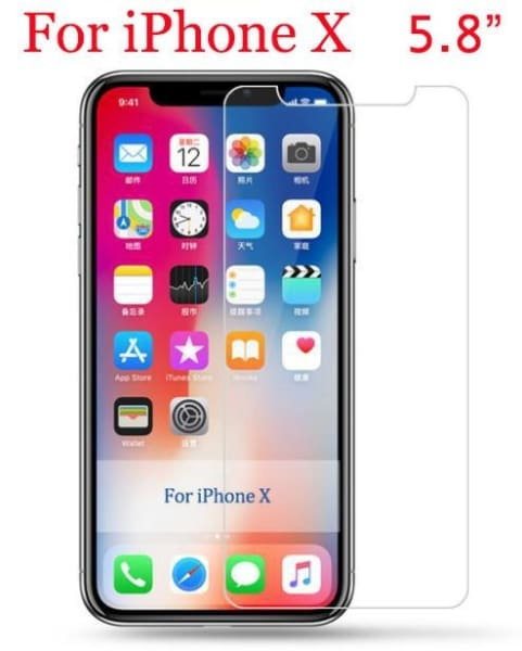 Tempered Glass For Iphone - For Iphone X - Phone Accessories