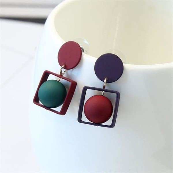 Tomomi Square - Square - Earrings