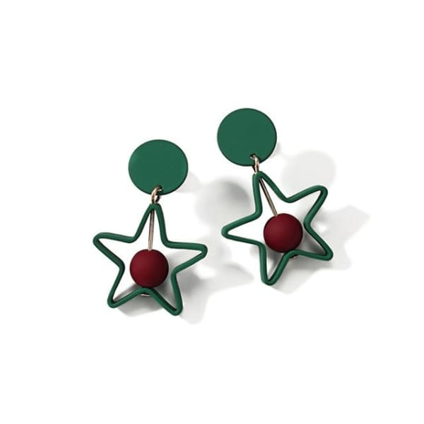 Tomomi Square - Pentagram - Earrings