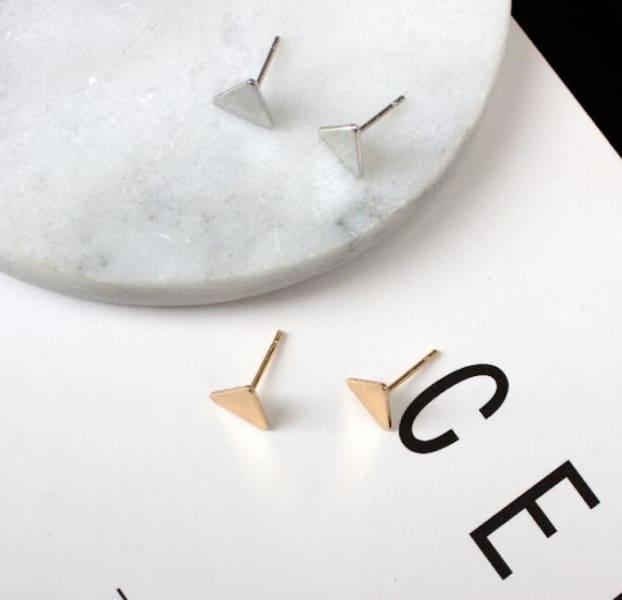 Triangle Stud - Earrings