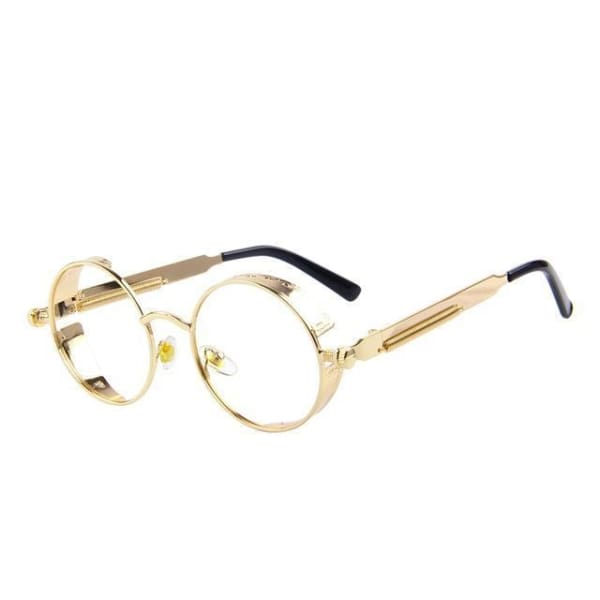 Vintage Steampunk - Gold Clear - Sunglasses