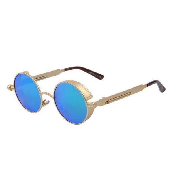 Vintage Steampunk - Gold Green - Sunglasses