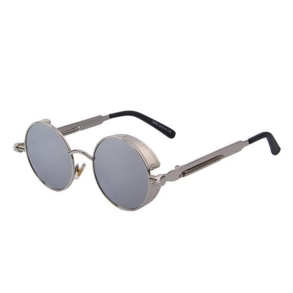 Vintage Steampunk - Silver Silver - Sunglasses