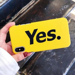 Yes Ultra Thin Yellow Cases - Gold / For Iphone 6 6S - Phone Accessories