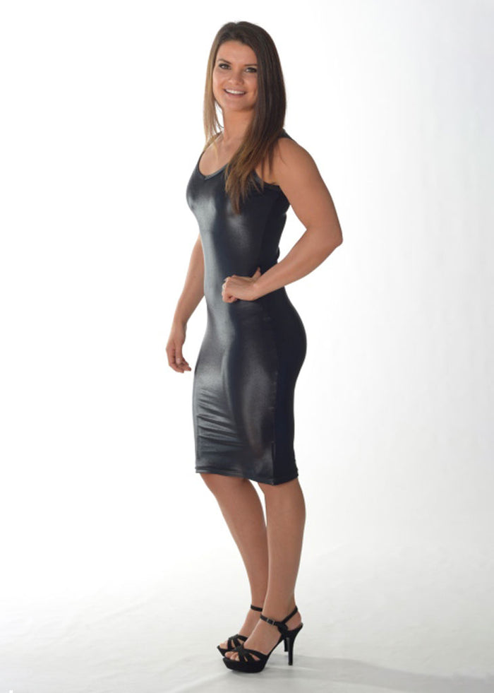 Baby Girl Dress (Leather Look)
