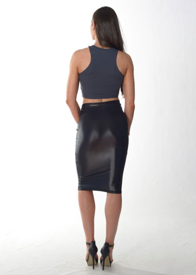 Formal Fit Crop Top (Grey/Thick straps)