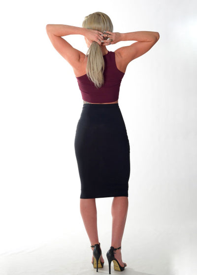 Formal Fit Crop Top (Plum)