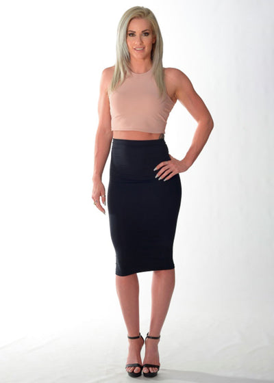Formal Fit Crop Top (Dusty Rose/Thick Strap)