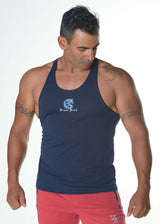 Men's T-Back Bubble Fabric Singlet