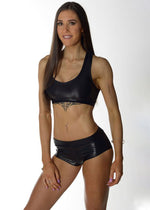 Fitness Model Outfit (Leather Look)