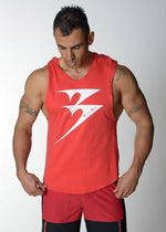 Sleeveless Cotton Hooded Training Top