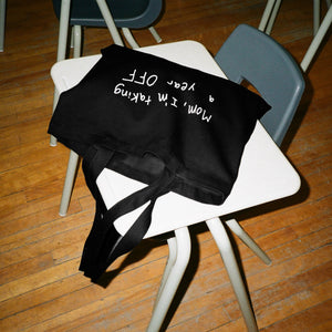 SORRY MOM - BLACK TOTE BAG