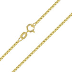 10K Solid Yellow Gold Box Chain 1.0mm 18""