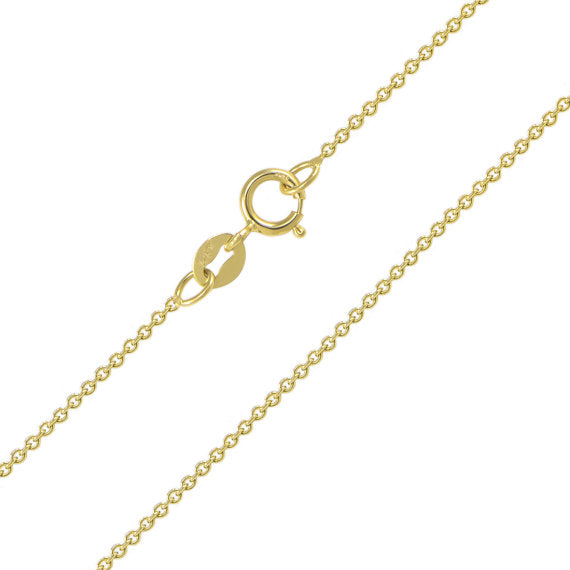 14K Solid Yellow Gold Rolo Chain 1.1mm 18""