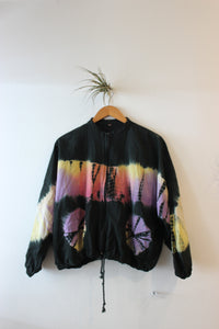 Vintage Tie Dye Cropped Windbreaker Jacket