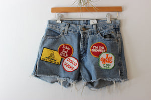 Vintage Custom Harley Davidson Patch Shorts