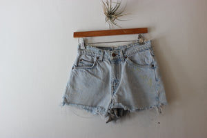 Vintage Orange Tab Levi's 501 Distress Back Denim Short