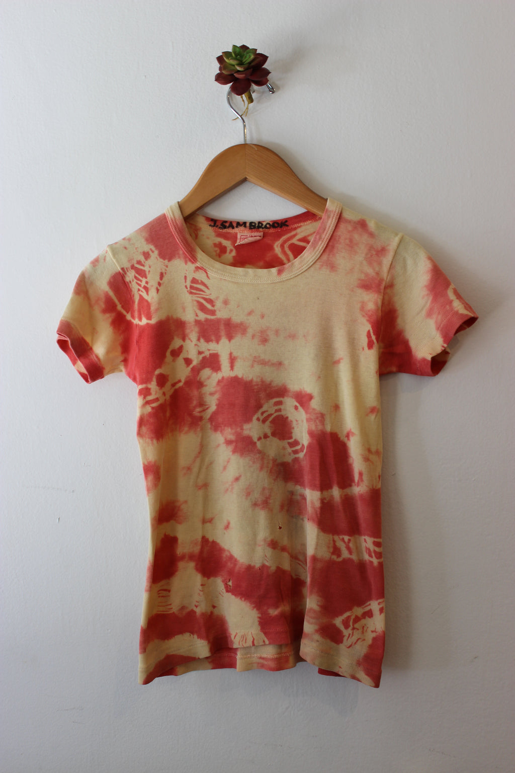 Vintage Cotton Tie Dyed Cropped Tee