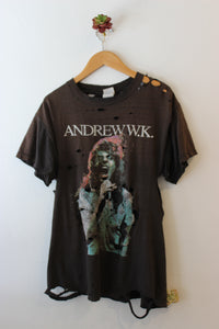 Vintage Tattered Andrew W K Tee