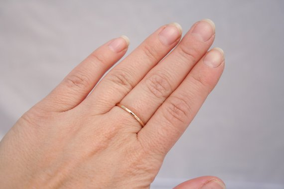 14k Solid Gold Stacking Ring
