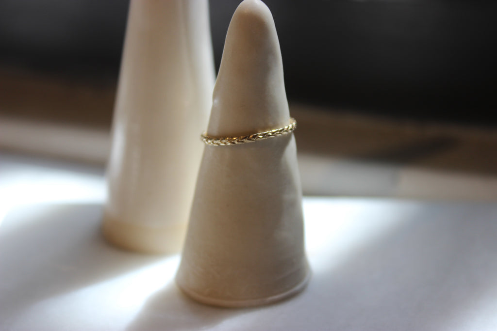 14k Yellow Gold Braid Ring
