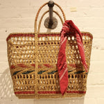 Vintage Straw Open Caryall Bag