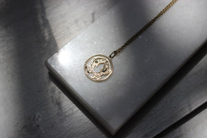 10k Yellow Gold Pisces Pendant