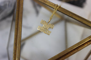 Vintage 14k Yellow Gold Damn I'm Good Pendant