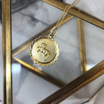 Vintage 14K Yellow Gold Aries Zodiac Pendant