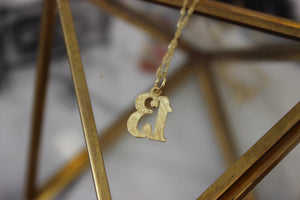 Vintage 14k Yellow Gold Lucky #13 Pendant